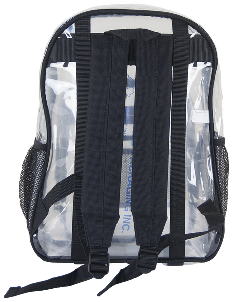 Amaro Clear Backpack Clear Vinyl Backpack Clear