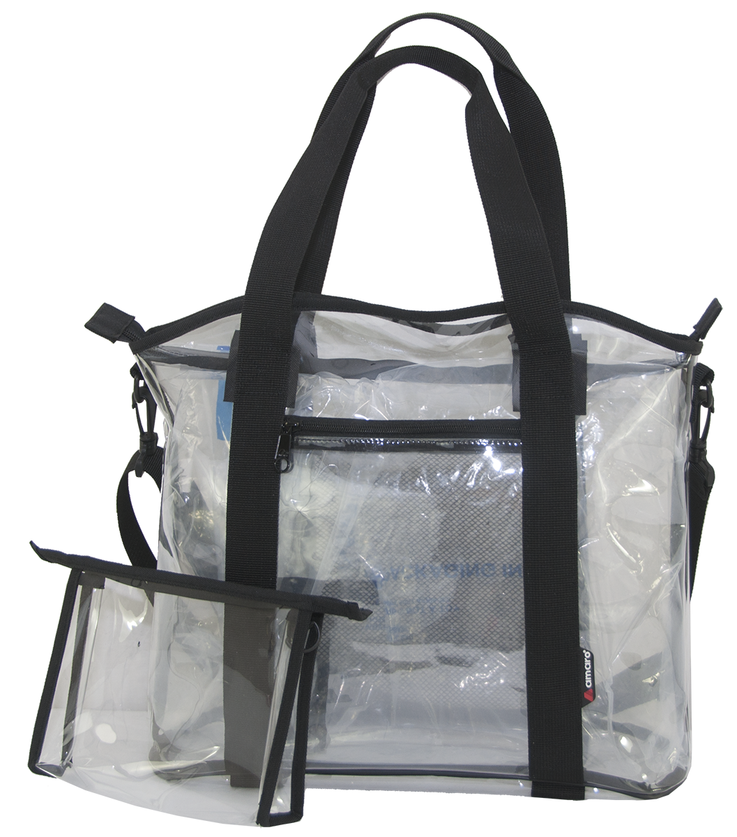1ff254e26ea1 Amaro Premium Clear Stadium Tote Bag (Small) 12
