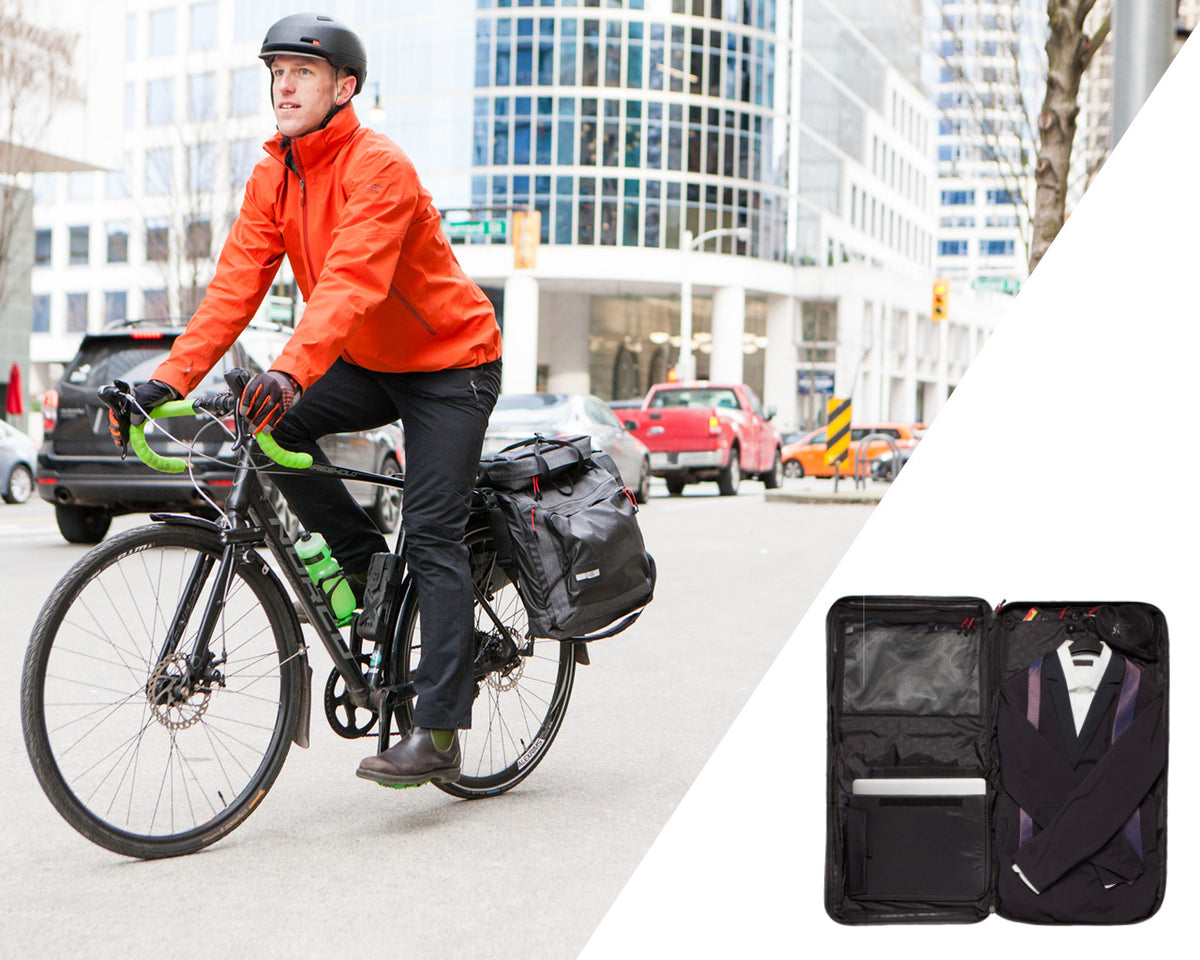 Two Wheel Gear - Bike Suit Bags - Panniers for biking to work