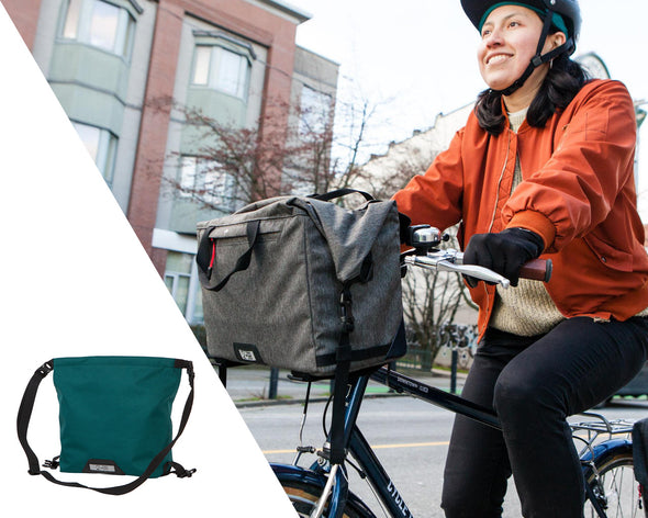 Two Wheel Gear - Mini Messenger Handlebar Bag on Woman Bike Commuter