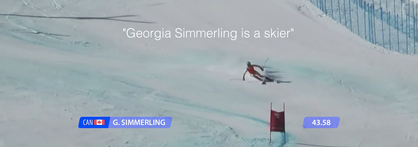 Georgia Simmerling skiing in the Olympics