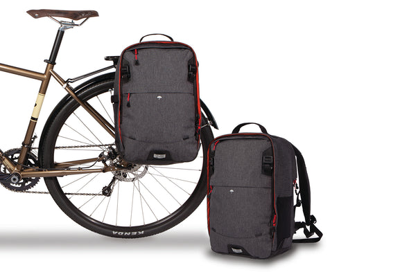 Two Wheel Gear - Pannier Backpack Convertible - Graphite Grey - Bike Bag