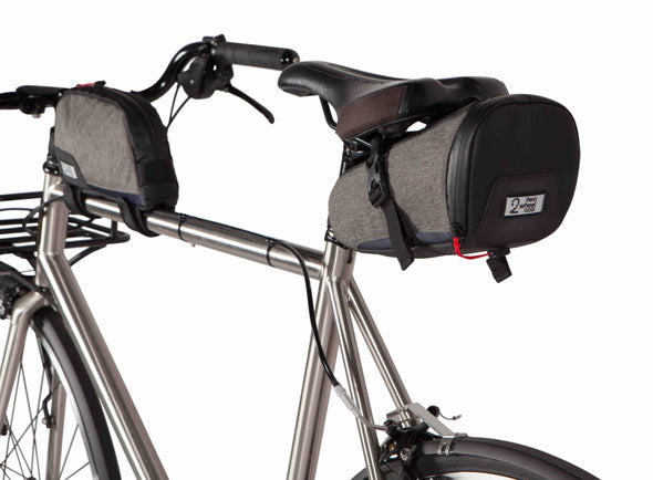 Two Wheel Gear Canada - Commute Seat Pack and Top Tube Bag on Bike