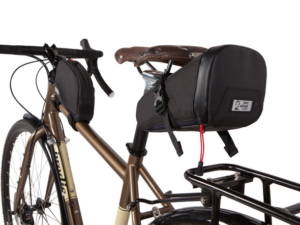Two Wheel Gear - Seat Pack and Top Tube Bag on Bike - Black