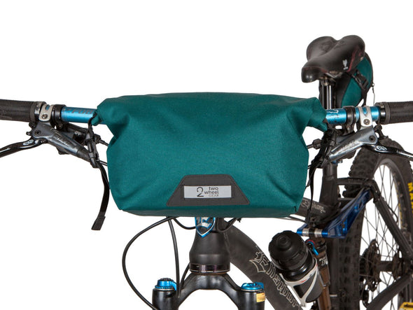 Two Wheel Gear - Dayliner Mini Handlebar Bag - Tofino Blue - on bike