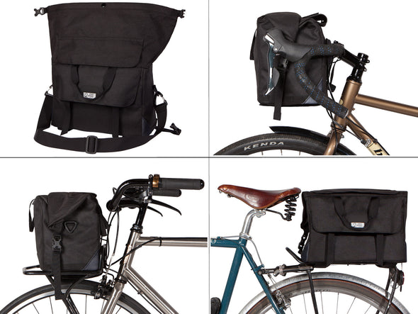 Two Wheel Gear - Dayliner Box Bag - Messenger, Handlebar, Porteur, trunk bag - black