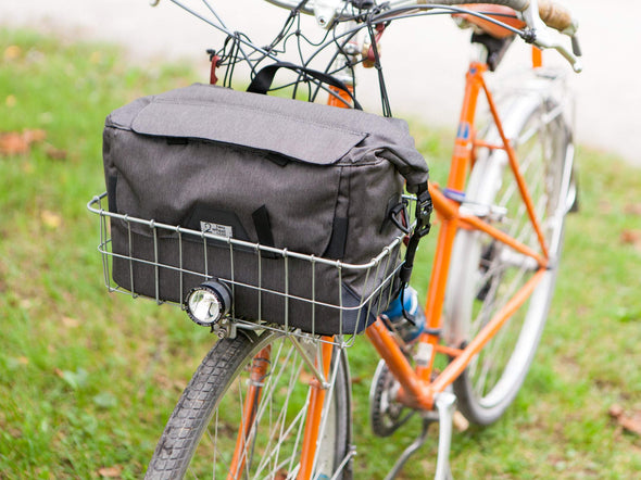 Two Wheel Gear - Dayliner Box Bag - In Front Basket - Graphite Grey