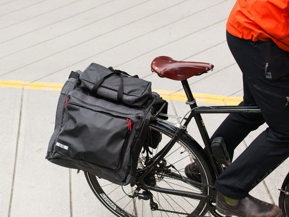 Two Wheel Gear - Classic 3.0 Garment Pannier - Graphite Grey - Bike Suit Bag - On Bike Rack