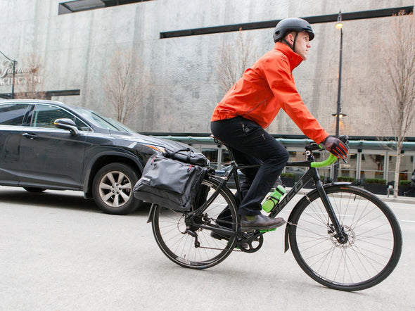 Two Wheel Gear - Classic 3.0 Garment Pannier - Graphite Grey - Bike Suit Bag - Bike Commuter