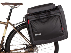 Two Wheel Gear - Classic 3.0 Garment Pannier - Graphite Grey - Bike Suit Bag - On Bike