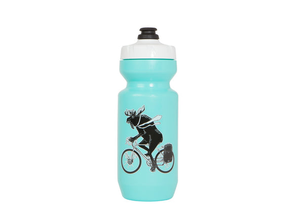 Two Wheel Gear - Moose Water Bottle - 22 oz  Purist - Canadiana - Teal