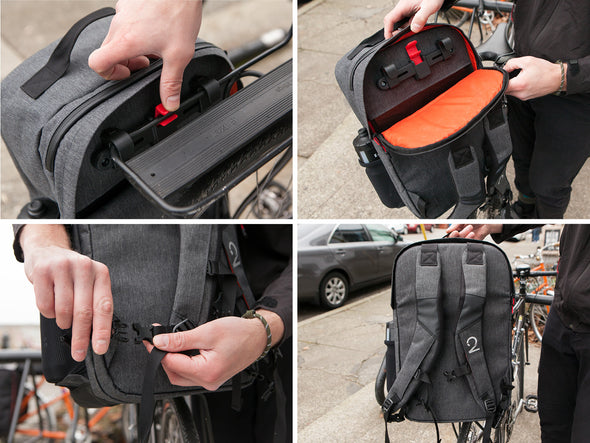 Two Wheel Gear - Pannier Backpack Conversion - Lifestyle