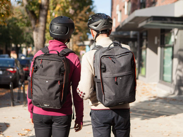 Two Wheel Gear - Pannier Backpack LITE and PLUS - Back Comparison