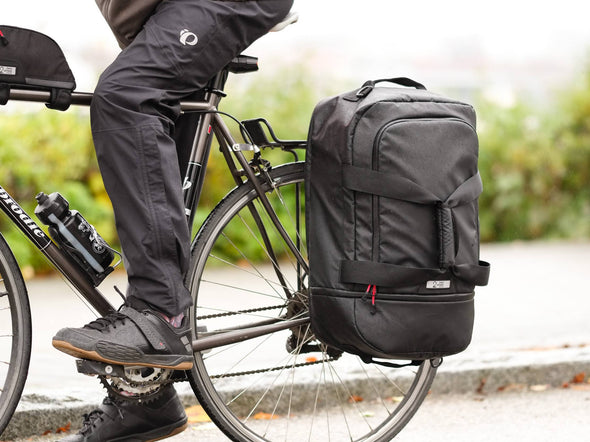 Two Wheel Gear - Pannier Duffel Bag - Black - Bike Commuter-Lifestyle2