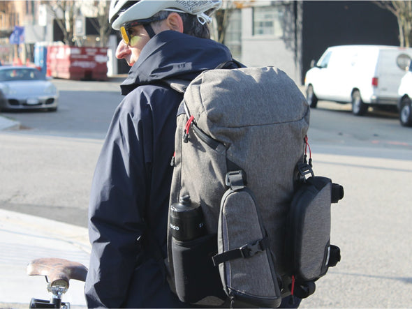 Two Wheel Gear Canada - Commute backpack with Seat Pack and Top Tube Bag attached on Commuter