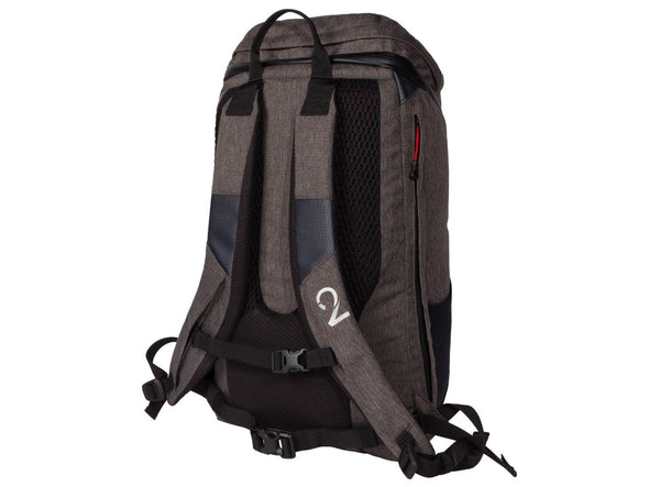 Two Wheel Gear - Commute Bike Backpack - With Modular Attachment System - Graphite Grey - Back Straps (4380809396294)