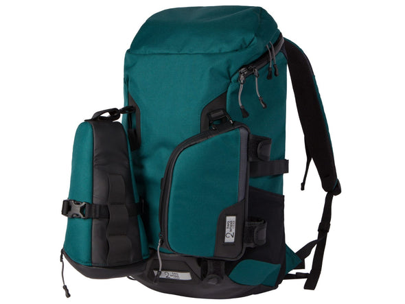 Two Wheel Gear - Bike Commute Backpack - Tofino Blue - 3 Bags - Modular Attachment System (4380809396294)
