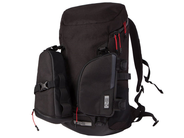 Two Wheel Gear - Bike Commute Backpack - Black - 3 Bags - Modular Attachment System (4380809396294)