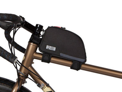 Two Wheel Gear - Bike Commute Top Tube Bag - Black - On Frame (4380869066822)