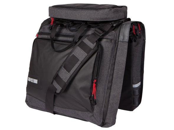 Two Wheel Gear - Classic 3.0 Garment Pannier - Graphite Grey - Bike Suit Bag with trunk (4382346412102)