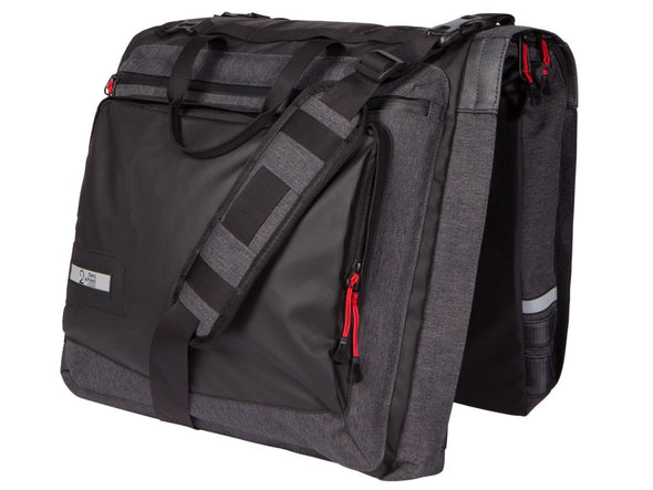 Two Wheel Gear - Classic 3.0 Garment Pannier - Graphite Grey - Bike Suit Bag without trunk bag (4382346412102)