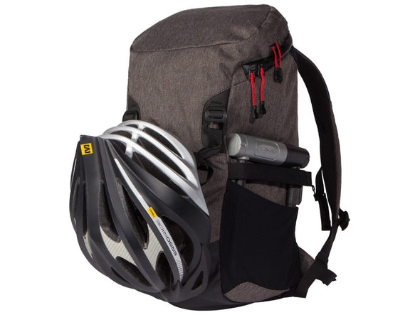 Two Wheel Gear - Commute Bike Backpack - With Modular Attachment System - Graphite Grey - With Helmet and Lock (4380809396294)