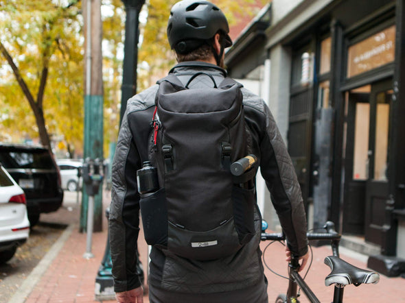 Two Wheel Gear - Commute Backpack - Black - On Bike Commuter (4380809396294)