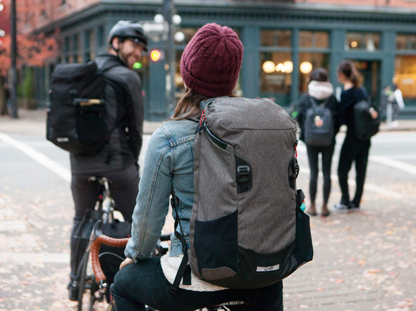 Two Wheel Gear - Commute Backpack - Graphite Grey, Black - On Bike Commuters (4380809396294)