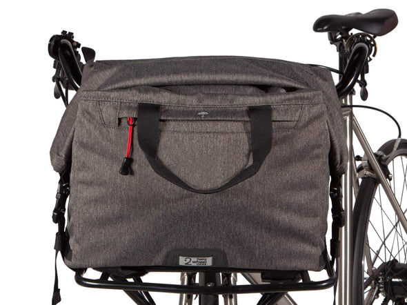 Two Wheel Gear - Dayliner Box Bag - Graphite Grey - On Front Bike Rack (4382371676230)