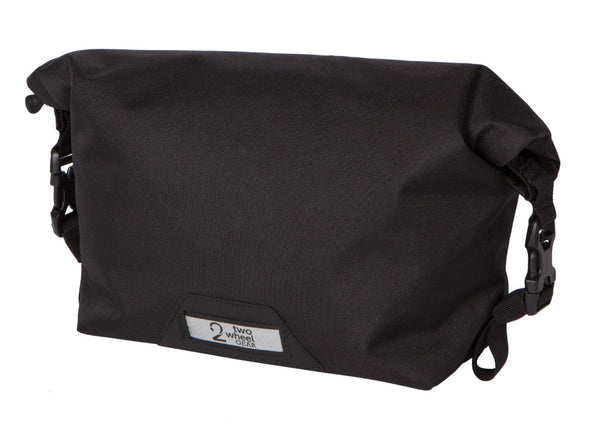 Two Wheel Gear - Dayliner Mini Handlebar Bag - Black - Rolled Up (4382909104198)