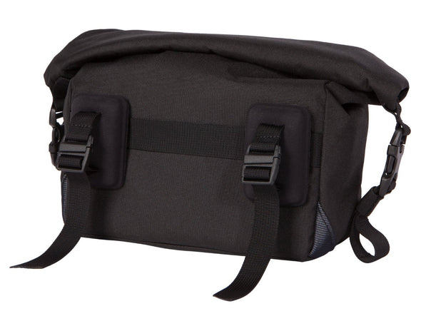 Two Wheel Gear - Dayliner Mini Handlebar Bag - Black - Back - Mounts for handlebars (4382909104198)