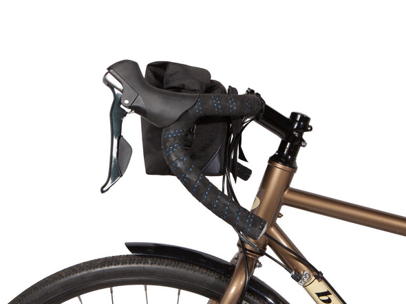 Two Wheel Gear - Dayliner Mini Handlebar Bag - Black - Side on Bike (4382909104198)