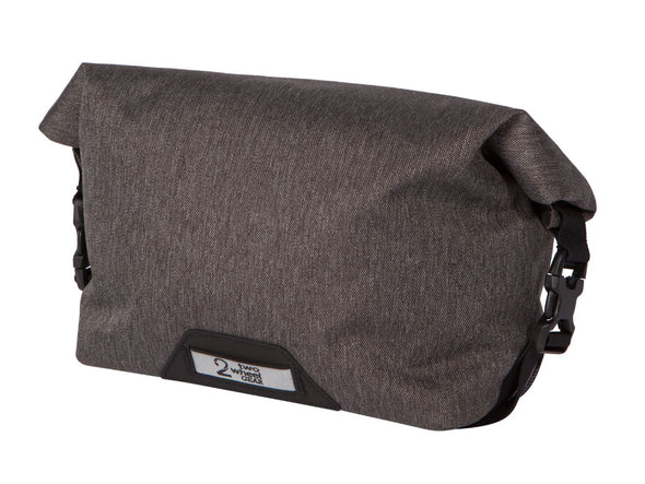 Two Wheel Gear - Dayliner Mini Handlebar Bag - Graphite Grey - Rolled Up (4382909104198)
