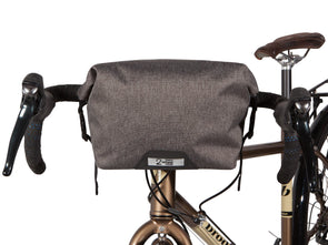 Two Wheel Gear - Dayliner Mini Handlebar Bag - Graphite Grey - On Bike Front (4382909104198)