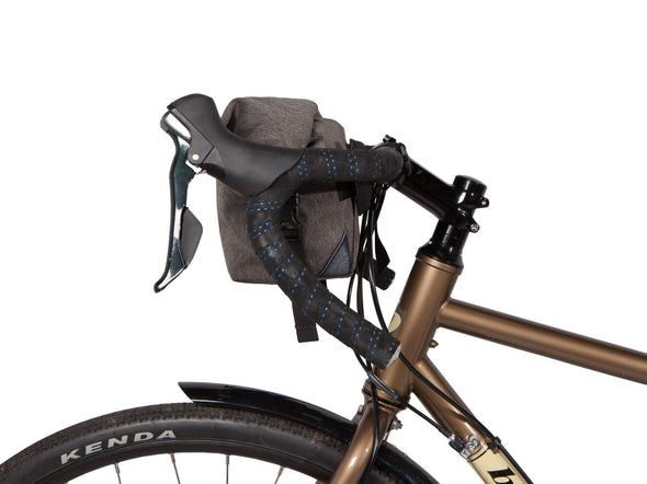Two Wheel Gear - Dayliner Mini Handlebar Bag - Graphite Grey - On Bike Side (4382909104198)