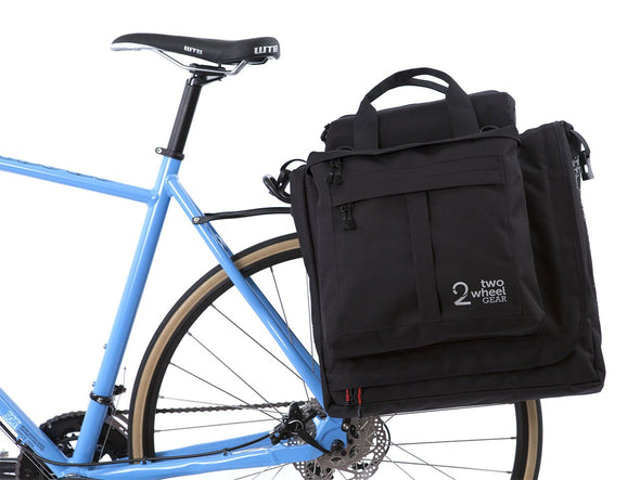 Two Wheel Gear - Garment Pannier - Classic 2.1 - Black - Bike Bag - On Bike Rack