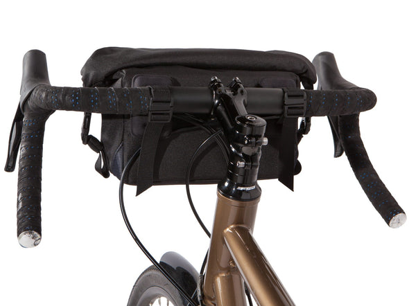 Two Wheel Gear - Dayliner Mini Handlebar Bag - Black -Handlebar mounts on bike (4382909104198)