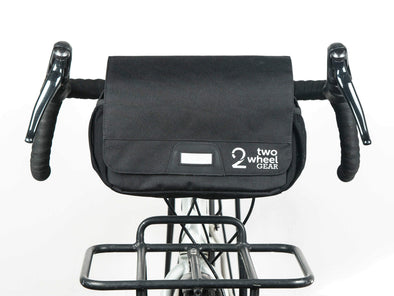 Black - Two Wheel Gear - Mini Messenger Handlebar Bag - Front Mounted (1500464185379)
