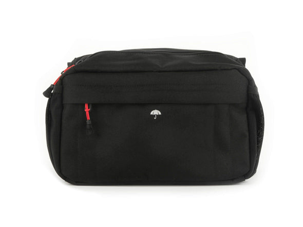 Black - Two Wheel Gear - Mini Messenger Handlebar Bag - Front Open