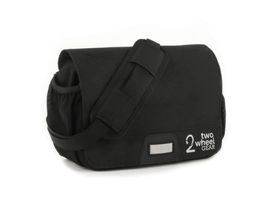 Black - Two Wheel Gear - Mini Messenger Handlebar Bag - Front Side