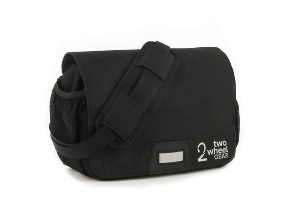 Black - Two Wheel Gear - Mini Messenger Handlebar Bag - Front Side (1500464185379)