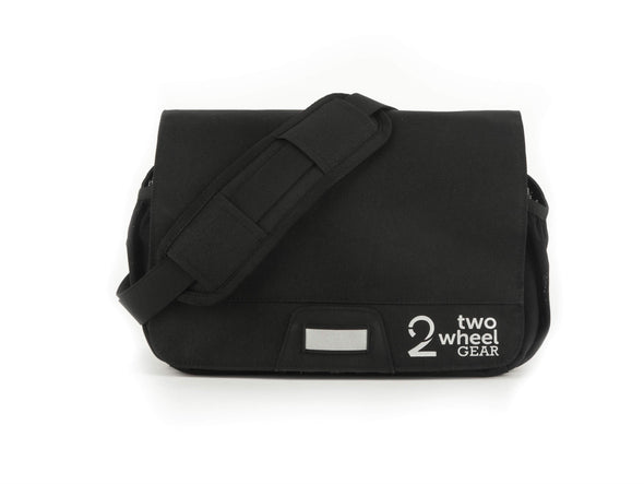 Black - Two Wheel Gear - Mini Messenger Handlebar Bag - Front Strap