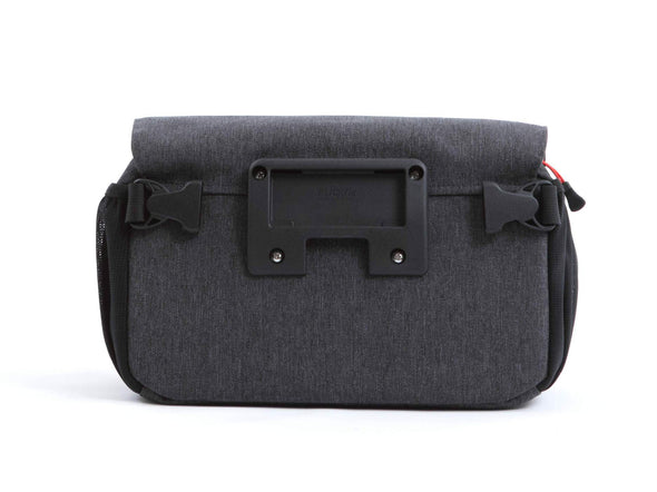 Graphite - Two Wheel Gear - Mini Messenger Handlebar Bag - Back