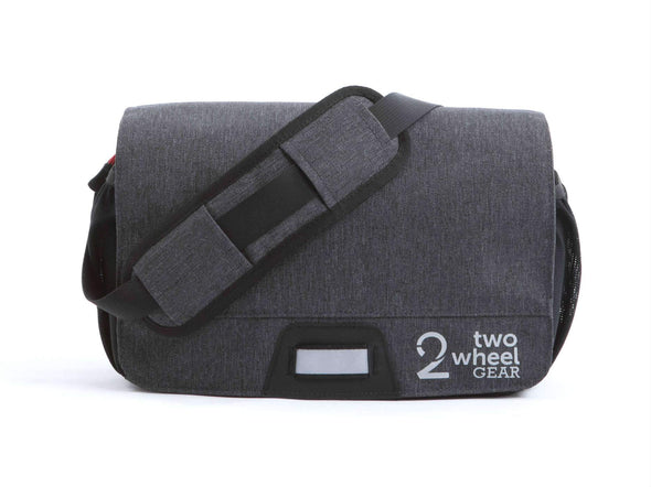 Graphite - Two Wheel Gear - Mini Messenger Handlebar Bag - Front  (1500464185379)