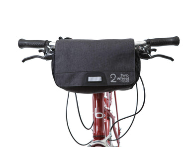 Graphite - Two Wheel Gear - Mini Messenger Handlebar Bag - Front Mounted