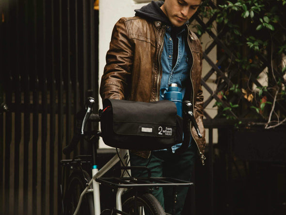 Black, Graphite - Two Wheel Gear - Mini Messenger Handlebar Bag - Commuter - Man