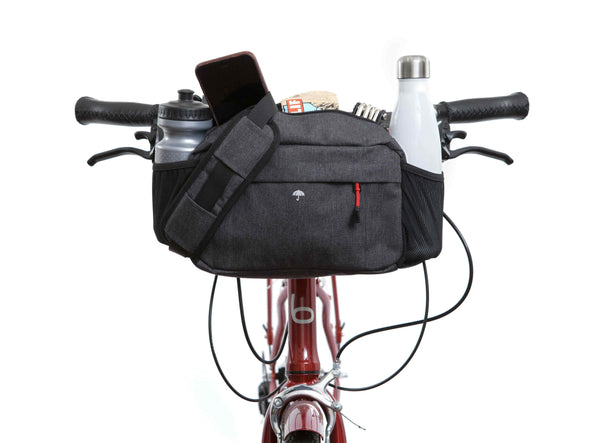Graphite - Two Wheel Gear - Mini Messenger Handlebar Bag - Front Mounted (1500464185379)