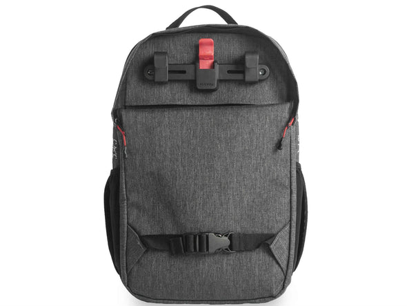 Two Wheel Gear - Pannier Backpack Convertible - Bike Bag - Graphite Grey - Back Kompakt Rail