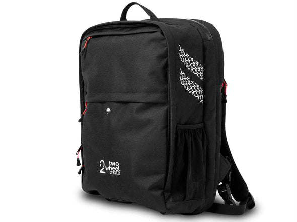 Black - Two Wheel Gear - Bags - Pannier Backpack Convertible PLUS+ - Side Profile (1550025621539)