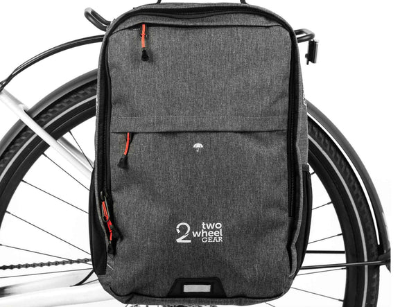 Graphite - Two Wheel Gear - Bags - Pannier Backpack Convertible PLUS+ - On Bike (1550025621539)